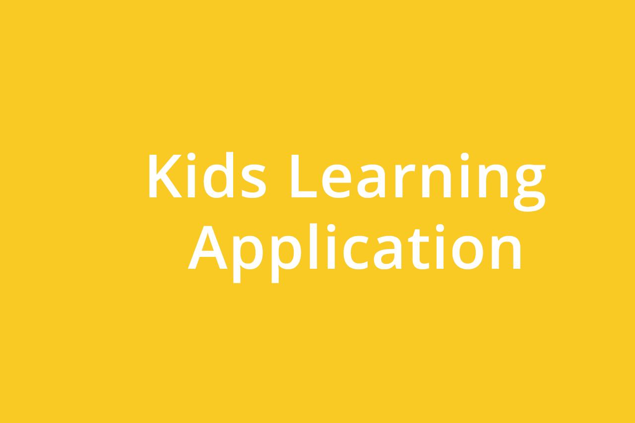 Kids Learning Application