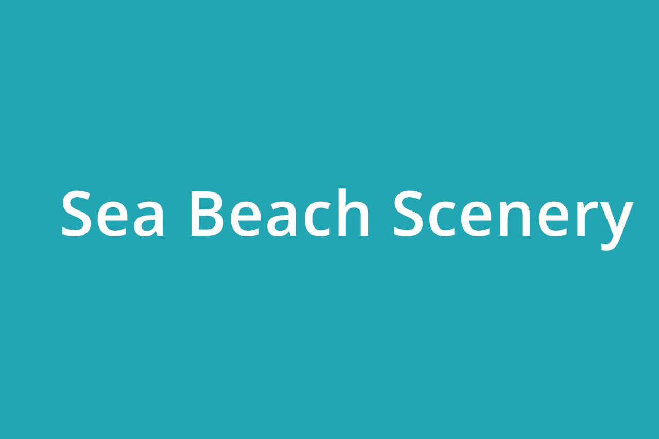 Sea Beach Scenery